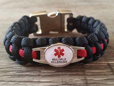 Medical Alert Multiple Sclerosis Paracord Bracelet Handmade By Heroes Id Bracelets
