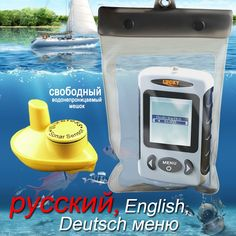 73.95$  Watch here - http://alio12.worldwells.pw/go.php?t=32693848839 - FFW-718 LUCKY Russian Version Wireless Fish Finder Sonar Sensor 45M Digital Design Nearby Fish Alarm With Waterproof Bag