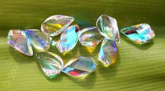 4 Pcs 2 Pair 11x22 mm AAA Rainbow Quartz by gemsinternational