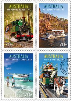 Australia Post Tourist Transport 2015 Stamp Issue Australian Stamps