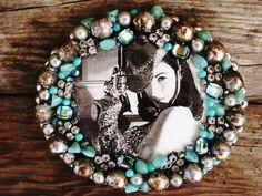 Glamarella Junk belt buckles...Jeweled, Rhinestone cowgirl!