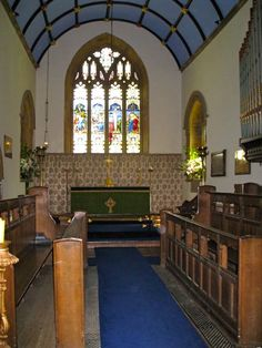 Altar at St. Michael's Church, East Coker, T. S. Eliot's church and burial site