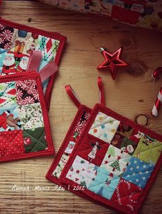 Diy Quilt, Quilts, Fabric Crafts, Sewing Crafts, Christmas Quilting Projects, Quilted Gifts, Quilting For Beginners, Handmade Christmas, Coastal Christmas