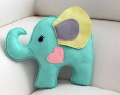 PEMBE CAMEKAN - Keçe Tasarım Atölyesi - Hediye Dükkanı Elephant Pillow, Fuzzy Felt, Tooth Fairy Pillow, Felt Baby, Little Elephant, Elephant Design, Felt Fabric, Felt Toys, Felt Ornaments