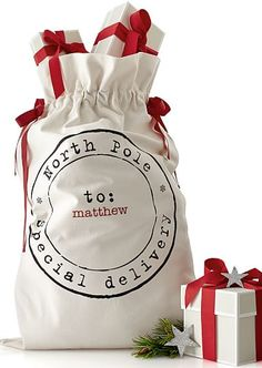 Santa sack with personalization