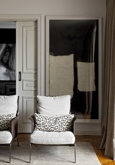 Diego Revollo Sao Paolo stylist apt living room leopard pillows art
