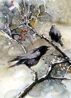 122014 Xmas Bird Count ~ crow