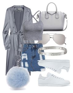 """""""#Look:#332"""" by dollarwomanlux ❤ liked on Polyvore featuring Givenchy, Yves Saint Laurent, Burberry, adidas Originals and Cartier"""