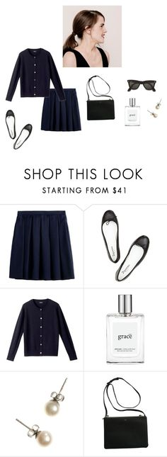 """Untitled #83"" by heteroglossia ❤ liked on Polyvore featuring Burberry, Ray-Ban, Repetto, A.P.C., philosophy and J.Crew"