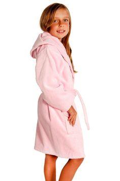 100% Turkish Cotton Kids Hooded Terry Velour Robe - Pink - Kids (Age 3-6) -  Small Medium  Kids Hooded Terry Velour Robe - Pink - Small Medium 7ff78cb20