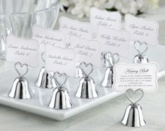 """""""Kissing Bell"""" Place Card/Photo Holder at WeddingFavors.org"""