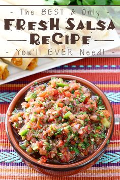 Plain and simple - The BEST & Only Fresh Salsa Recipe You'll EVER Need! @joseolecentral AD