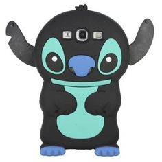 Black Cute 3D Stitch with Movable Ears Silicone Rubber Soft Case Cover for Samsung Galaxy S3 i9300
