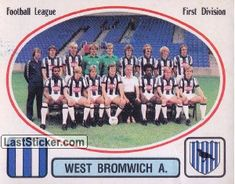 Football Stickers, Uk Football, West Bromwich, Team Photos, England, Club, Baseball Cards, Logo, Collection