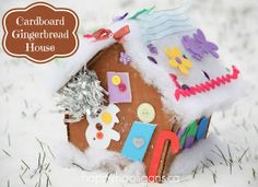 cardboard gingerbread house - happy hooligans - Xmas activity for kids