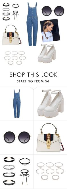 """""""Casual outfit"""" by ilieelena ❤ liked on Polyvore featuring M.i.h Jeans, Alice + Olivia, Gucci and Forever 21"""