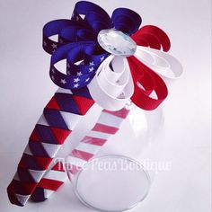 ThreePeasBoutiques 4th of July Woven Headband!