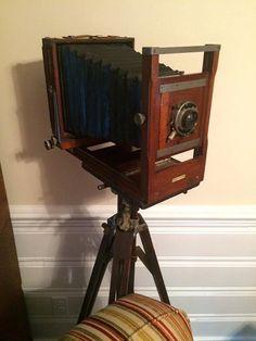 Custom Vintage Antique Camera Tripod Floor Lamp by RickDennisOriginals