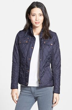 Barbour-'Jody'+Quilted+Moto+Jacket