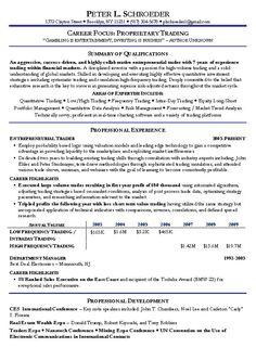 Proprietary Trading Resume Example - http://www.resumecareer.info/proprietary-trading-resume-example-19/