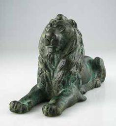 GraecoRoman Bronze Sculpture of a Lion - FZ.342 For Sale   Antiques.com   Classifieds
