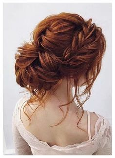 New Hair Color Red Ginger Haircolor Ideas - Prom Hair Updos - Short Hairstyles For Thick Hair, Formal Hairstyles, Braided Hairstyles, Curly Hair Styles, Wedding Hairstyles For Curly Hair, Redhead Hairstyles, Hairstyles Haircuts, Red Hair Updo, Wedding Hair And Makeup