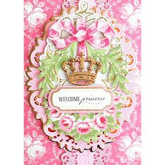 Anna Griffin® Crown Sentiments and Embellishments - 8969148 Baby Cards, Kids Cards, Lace Stencil, Anna Griffin Cards, Send A Card, Spring Projects, Paper Crafts, Diy Crafts, Pattern Paper