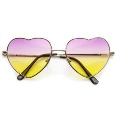 83282a5648 Light Gold Pink Yellow Gafas De Sol, Corazones, Colores Del Arco Iris,  Anteojos