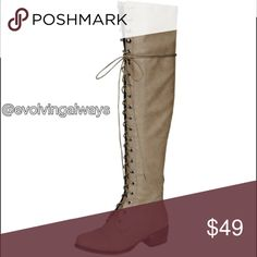 Coming Soon Over the Knee Fashion Boots These very trendy boots will work well with jeans, leggings, skirts, and casual dresses. If you are interested click like and I will tag you when they come in. EvolvingAlways Shoes Over the Knee Boots
