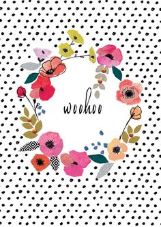 from Stop the Clock is the lovely Flora collection featuring painterly flowers and hand written type. print & pattern