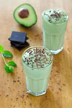My healthy shamrock shake recipe is paleo, dairy-free, refined sugar-free, and additive-free. It's made with coconut milk, avocado, and fresh mint. | cookeatpaleo.com