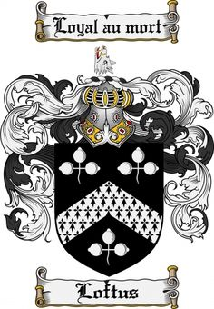 Loftus Coat of Arms Loftus Family Crest Instant Download - for ... $7.99 at…