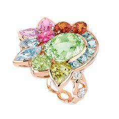 Dior Granville tourmaline verte ring