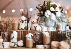 I love this wedding that used cotton in their decorations. via greenweddingshoes.com