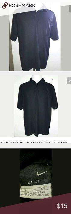 Nike Dry-fit black golf shirt XL. Playera negra XG Good condition Nike Shirts Polos