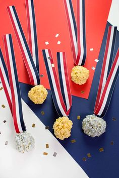 Are you guys watching the Olympics? Are you a casual watcher or completely obsessed? Growing up, Elsie and. Jello Popcorn, Sugar Popcorn, Popcorn Balls, Flavored Popcorn, Biscuits, Olympic Medals, Olympic Golf, Crushed Oreos, Beautiful Mess