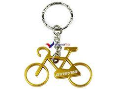 Porte-clé décapsuleur vélo (Jaune)
