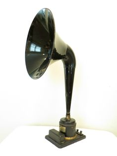 Vintage 1920s Old Antique Magnavox Lion Decal Straight Neck Radio Horn Speaker | eBay