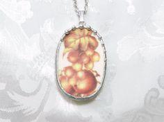 Broken China Jewelry Necklace Cracker Barrel by TreasuresAnew, $30.00