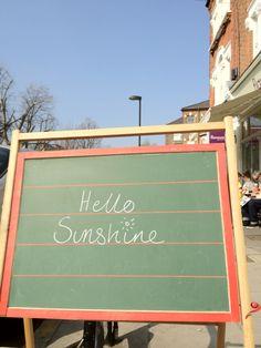 @ralph_greenland - Hello sunshine!  Spreading the sunshine in north London