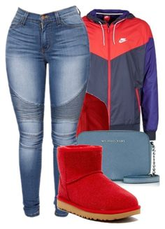 """""""2/12/17"""" by monet-princessa ❤ liked on Polyvore featuring NIKE, Mark & Graham, Michael Kors and UGG"""