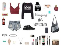 """""""Hanging with friends"""" by hanwilloughby ❤ liked on Polyvore featuring Converse, Lord & Berry, Too Faced Cosmetics, Bling Jewelry, NARS Cosmetics, Jewel Exclusive, Essie, ALDO, Topshop and NIKE"""
