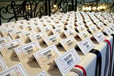 Carnival Ticket Style Place Card