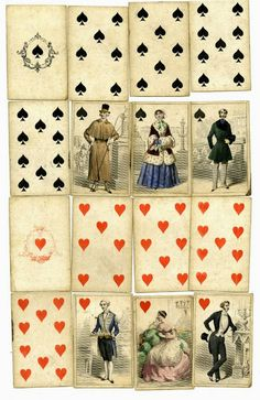 In the Swan's Shadow: Mid-19th century playing cards, view 1.