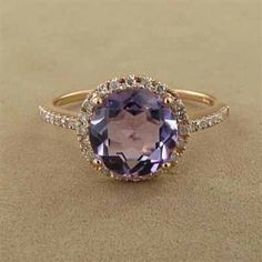 Love gold and amethyst rings