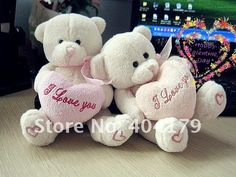 plush toys lovely bear hug heart for birthday gift