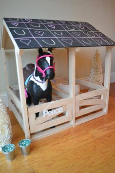 Check out this item in my Etsy shop https://www.etsy.com/listing/212538637/american-girl-inspired-horse-stable-for
