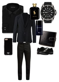 """""""Untitled #26"""" by mariasara-dima ❤ liked on Polyvore featuring Double TWO, Emporio Armani, Yves Saint Laurent, Stacy Adams, Gucci, Givenchy, Polo Ralph Lauren, men's fashion and menswear"""