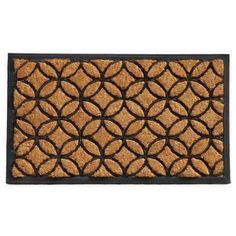 This beautiful combination of coir and rubber make a stylish, yet durable reception for your guests. While the heavy-duty rubber adds weight and elegance, the coir acts as a natural scraper on shoes to #guests #reception #durable