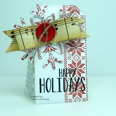 You've Been Tagged by k dunbrook - Cards and Paper Crafts at Splitcoaststampers Christmas Gift Tags, Xmas, I Want Chocolate, Harry And David, Old Sheet Music, You Ve, Christmas Decorations, Holiday Decor, Happy Holidays